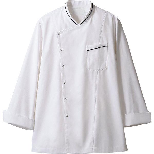 住商モンブラン MONTBLANC(モンブラン) コックコート 兼用 長袖 白/黒 S 6-1061(直送品)