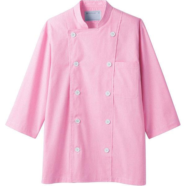 住商モンブラン MONTBLANC(モンブラン) コックジャケット 兼用 7分袖 ピンク LL 6-573(直送品)