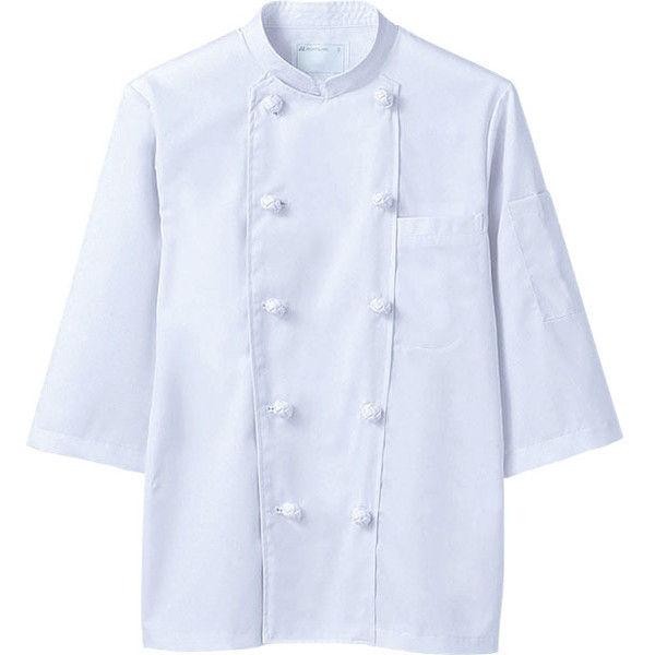 住商モンブラン MONTBLANC(モンブラン) コックコート 兼用 7分袖 白 5L 6-603(直送品)