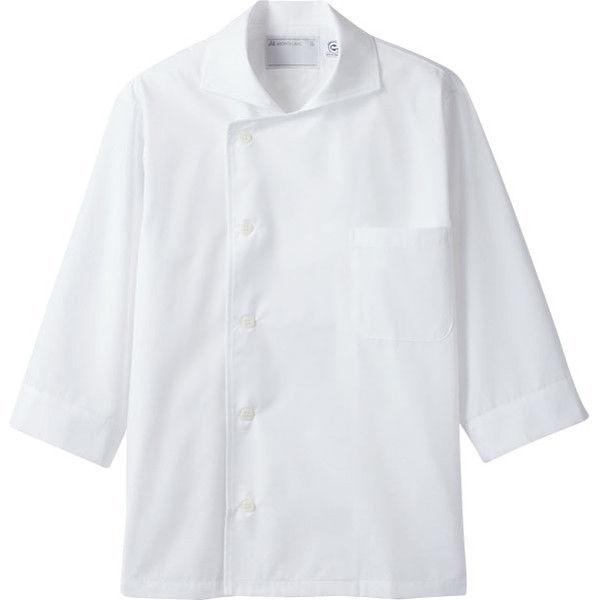 住商モンブラン MONTBLANC(モンブラン) コックシャツ 兼用 7分袖 エコ 白 M 6-691(直送品)