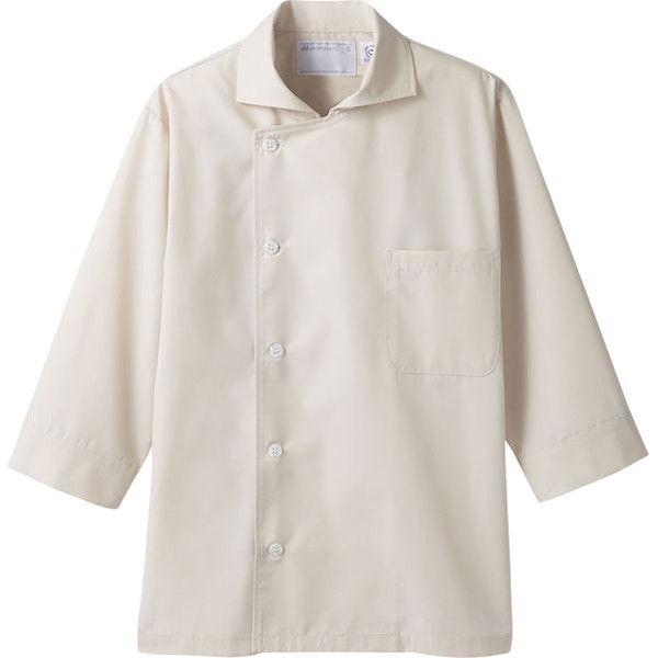 住商モンブラン MONTBLANC(モンブラン) コックシャツ兼用 7分袖 エコ ベージュ L 6-693(直送品)