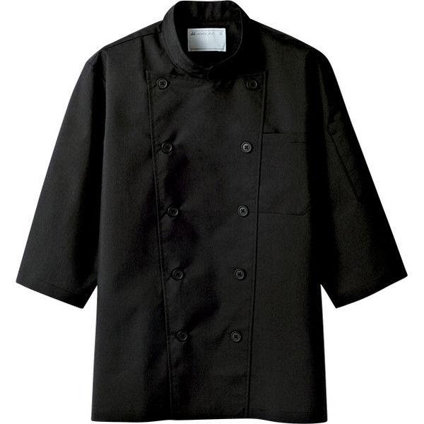 住商モンブラン MONTBLANC(モンブラン) コックコート 兼用 7分袖 黒 3L 6-837(直送品)