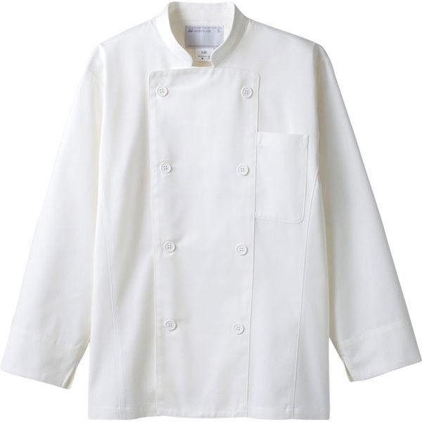 住商モンブラン MONTBLANC(モンブラン) コックコート 兼用 長袖 白 LL 6-851(直送品)