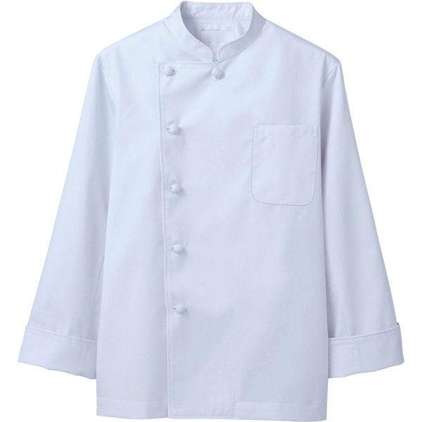 住商モンブラン MONTBLANC(モンブラン) コックコート 兼用 長袖 白 LL 6-921(直送品)