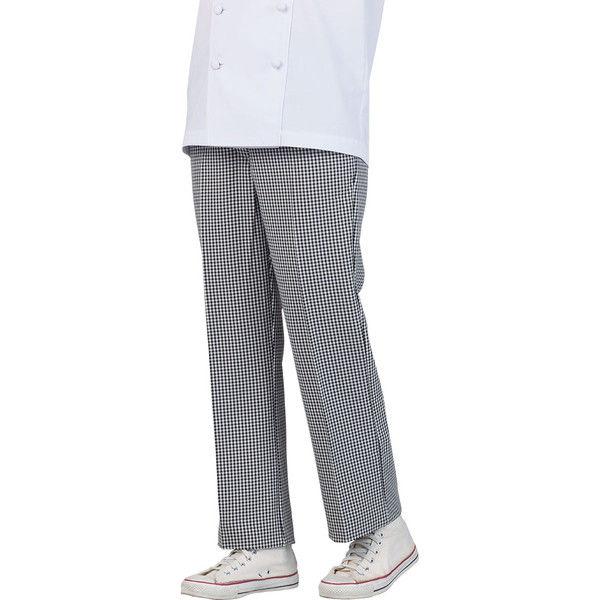 住商モンブラン MONTBLANC(モンブラン) パンツ レディス 両脇ゴム 黒チェック LL 7-181(直送品)