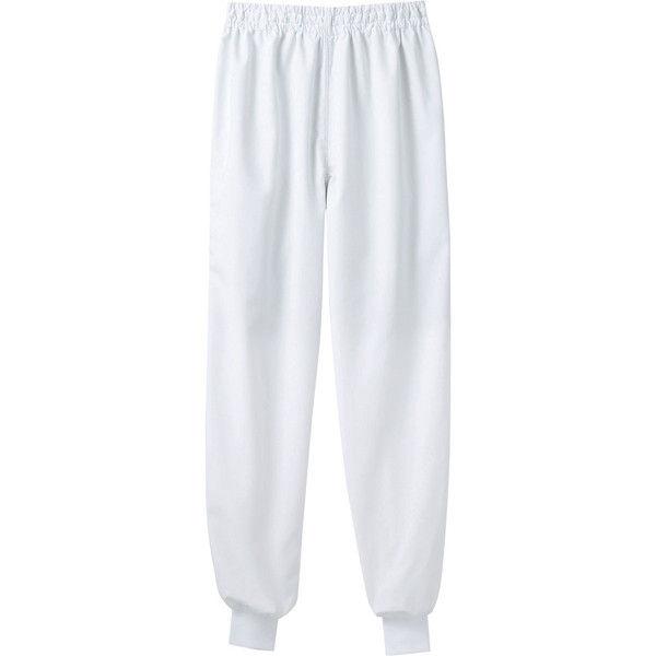 住商モンブラン MONTBLANC(モンブラン) パンツ 兼用 エコ 裾フライス 白 M 7-481(直送品)