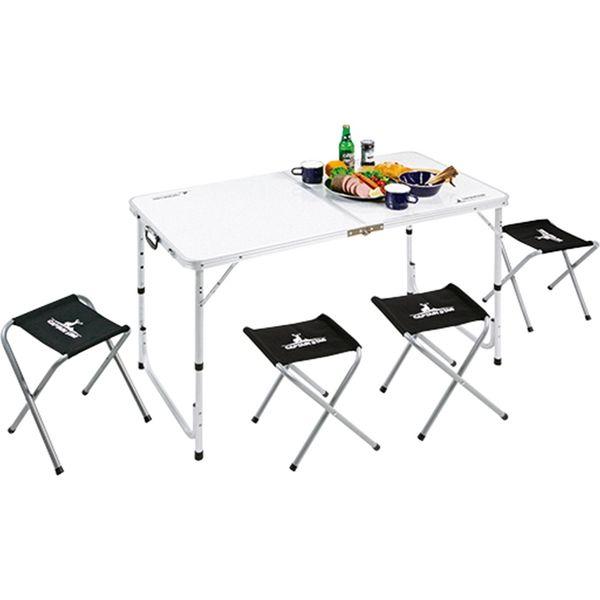 パール金属 キャプテンスタッグ ラフォーレ テーブル・チェアセット 4人用 UC-0004(直送品)