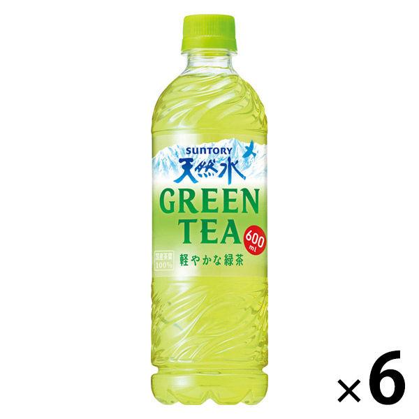 天然水GREEN TEA 600ml×6