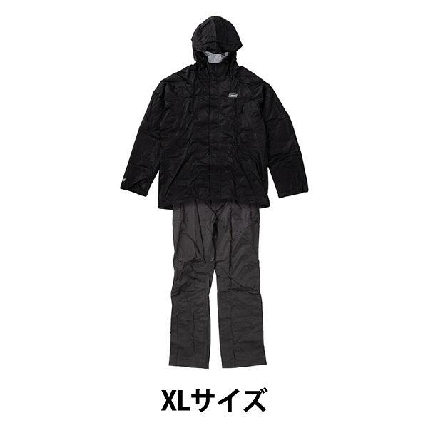 コールマンレインスーツメンズXL 黒