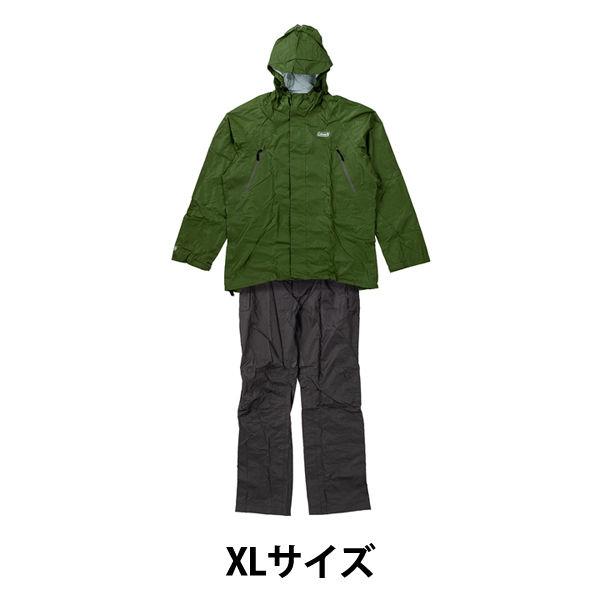 コールマンレインスーツメンズXL 緑