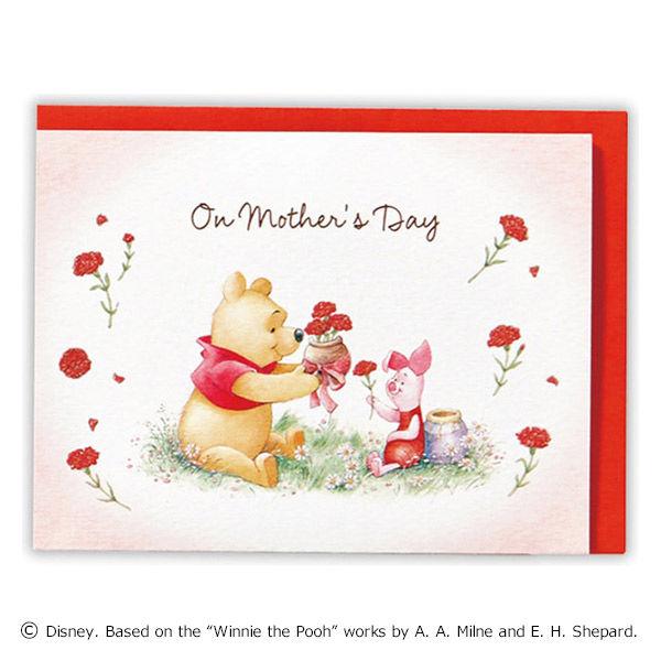 母の日カード プーさん 花の輪