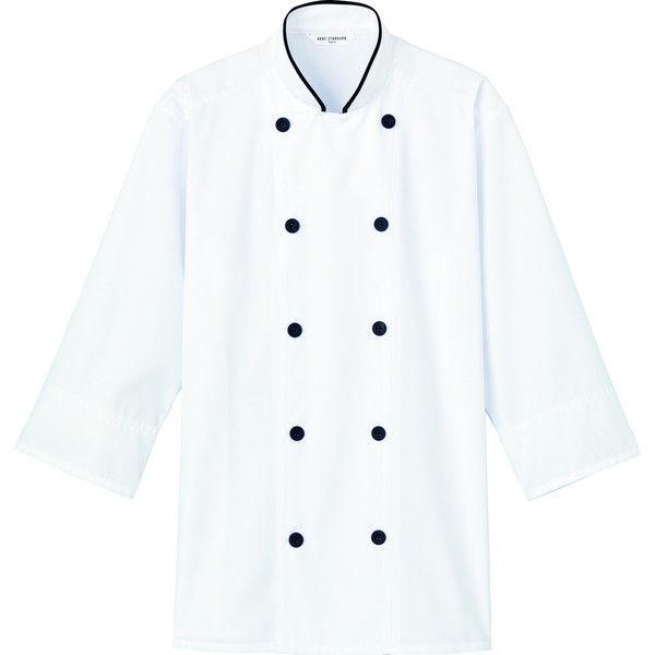 チトセ コックシャツ(男女兼用) AS8514_C-10ブラック_M(取寄品)