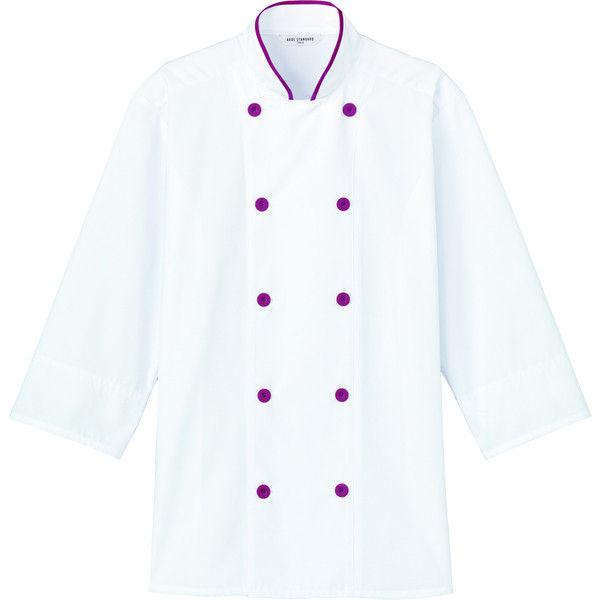 チトセ コックシャツ(男女兼用) AS8514_C-28カシス_3L(取寄品)