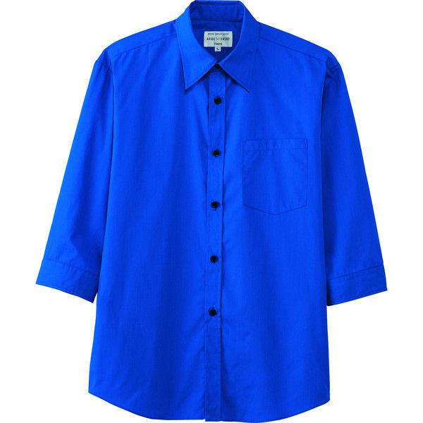 チトセ シャツ(七分袖)〔男女兼用〕 EP7618_C-31ブルー_4L(取寄品)