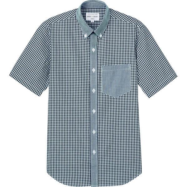チトセ ボタンダウンシャツ(半袖)[男女兼用] EP8534_C-10ブラックチェック_M(取寄品)