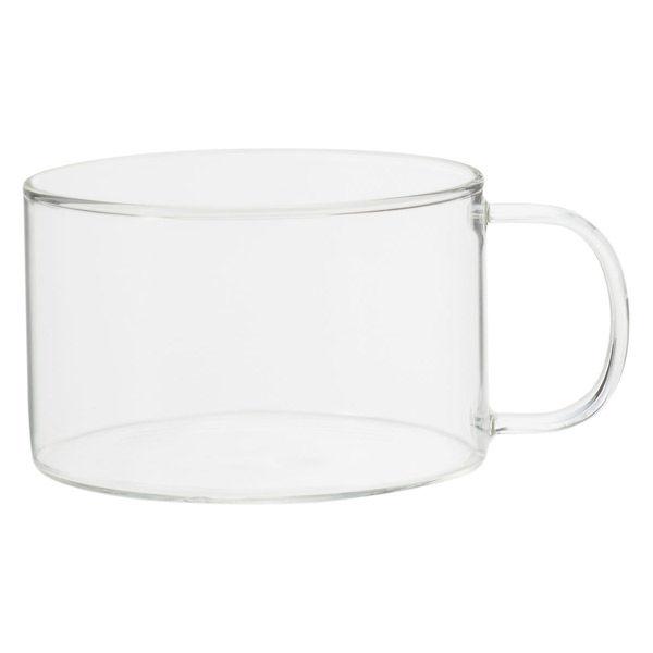 無印 耐熱ガラスマグカップ