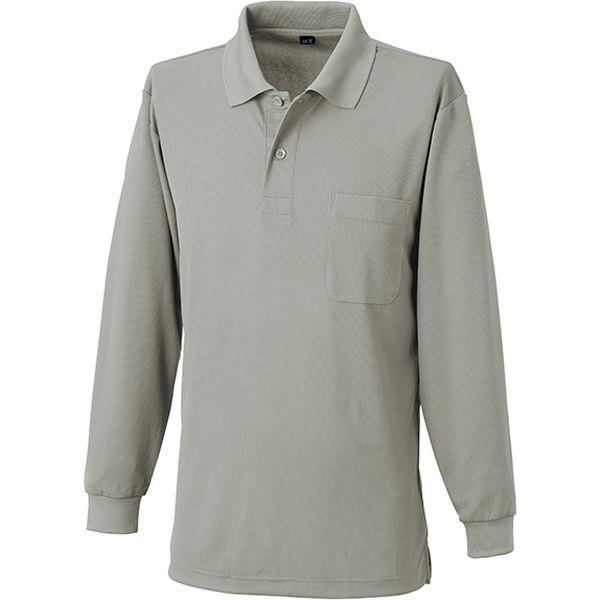 【ワークウェア・作業用ポロシャツ】小倉屋 吸汗速乾長袖ポロシャツ グレー 6002-40-4L 1枚(直送品)