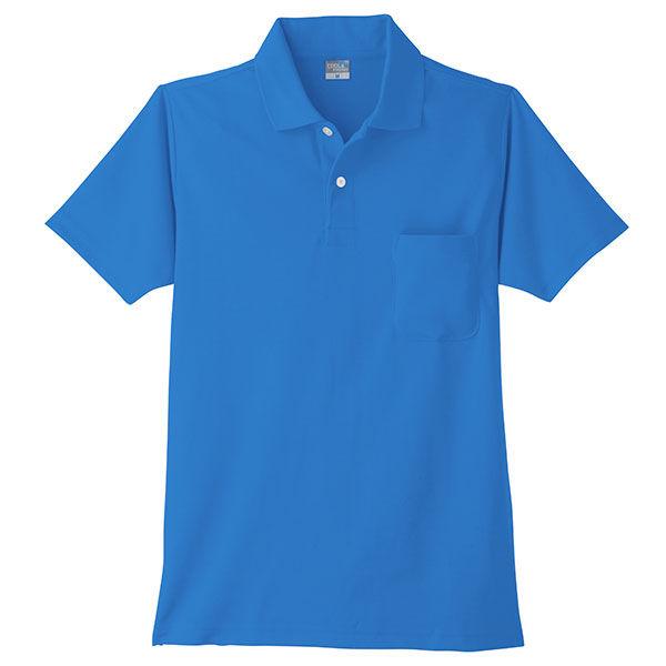 【ワークウェア・作業用ポロシャツ】小倉屋 DRYシリーズ DRY 半袖ポロシャツ ブルー 9006-05-4L 1枚(直送品)