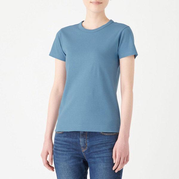 4b48264211ed2 無印 汗じみしにくい半袖Tシャツ S. 無印良品 汗じみしにくいフライス編みクルーネック ...