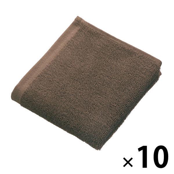 新疆綿使用 ハンドタオル ブラウン10枚