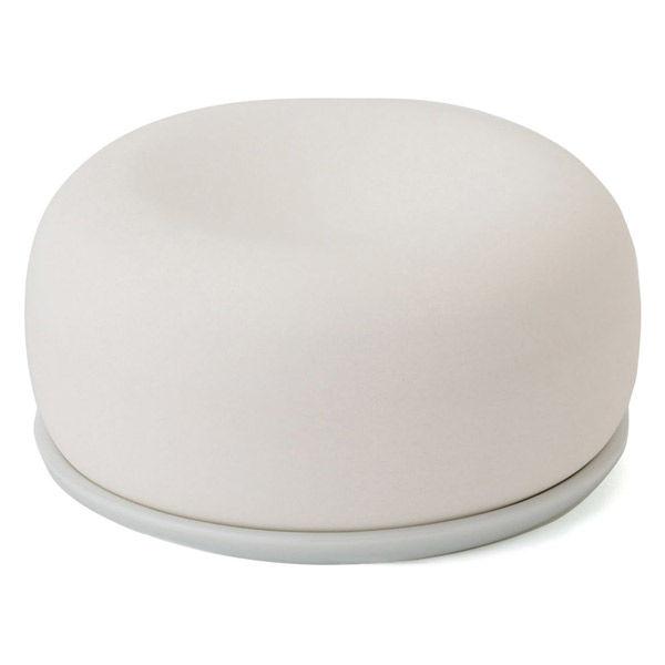 アロマストーン 皿付 白