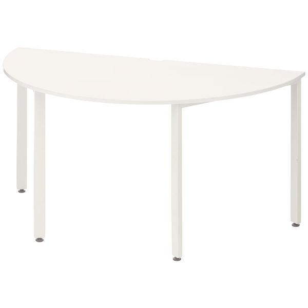 イトーキ サリダMTテーブル 半円 ホワイト 幅1500×奥行750×高さ720mm 1台(2梱包)