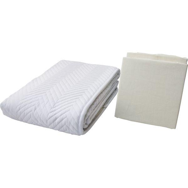 鈴屋 ベッドパッド&ボックスシーツ2枚 お手軽3点パック クイーン キナリ 1セット(直送品)
