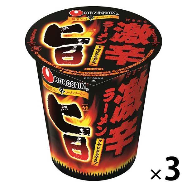農心 旨激辛 カップラーメン 3個