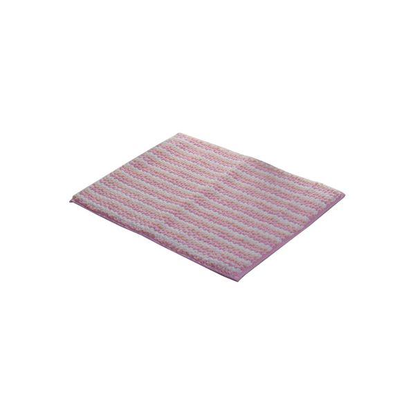 イケヒコ バスマット 洗える 吸水 『スカイ』 幅500×奥行750mm ピンク 3464880 1セット(2枚入り)(直送品)