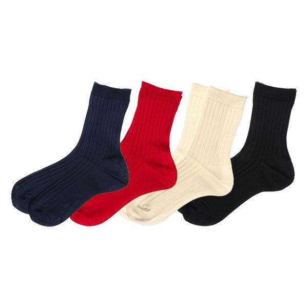 8×2リブソックス 婦人靴下 4色セット