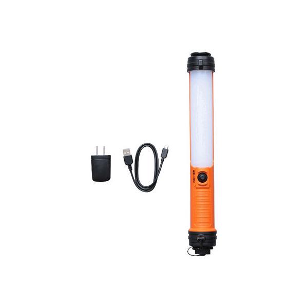 アイリスオーヤマ LEDスティックライト 充電式 200lm 充電器 LWS-200SB-CH(直送品)
