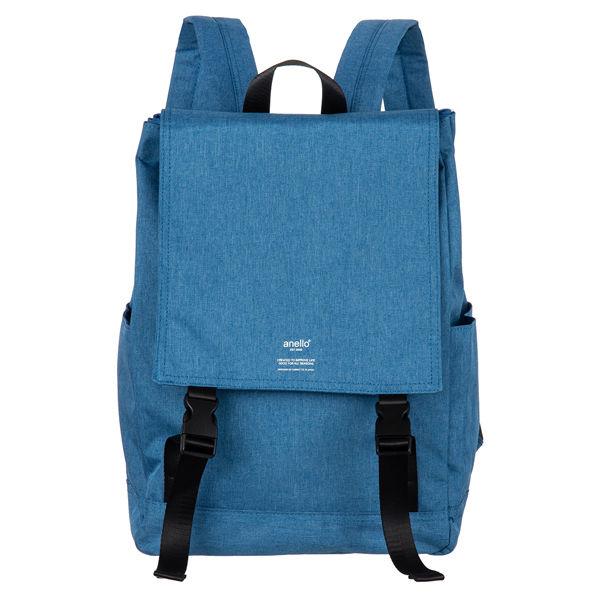 アネロ高密度杢調ポリフラップリュック青