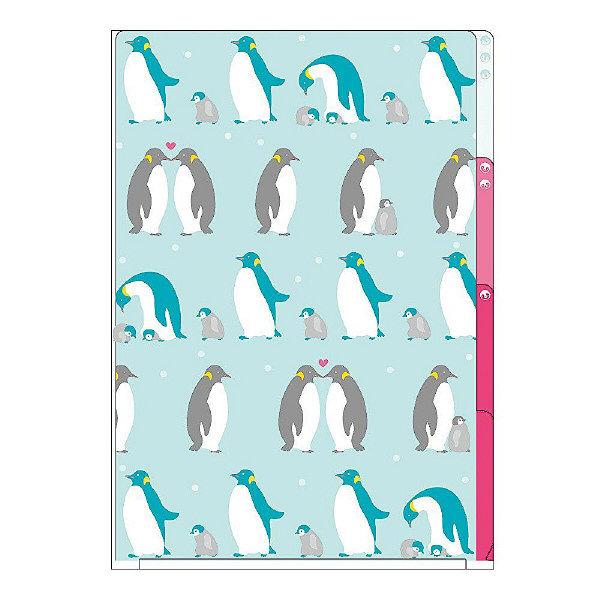 デザインフィル 3ポケットクリアホルダー <A4> ペンギン柄 35156006 5枚(直送品)