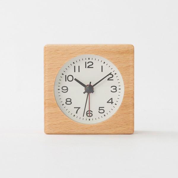 無印良品 ブナ材時計(アラーム機能付)