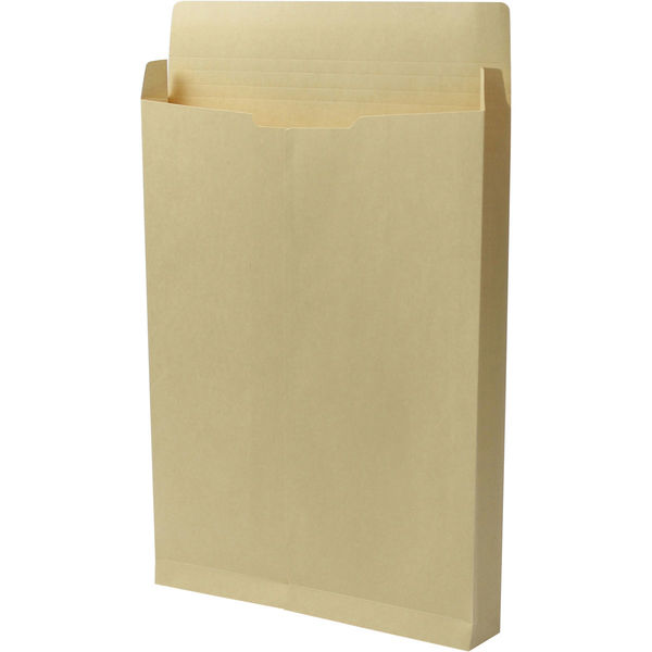 角1 クラフト保存袋 ハトメ紐なし マチ幅40mm BK11024N 1箱(100枚) イムラ封筒(直送品)