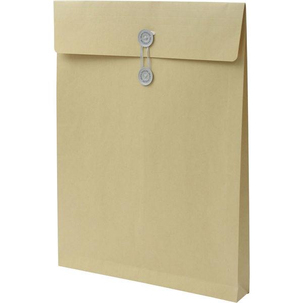 角0 クラフト保存袋 ハトメ紐付 BK0102 1箱(100枚) イムラ封筒(直送品)
