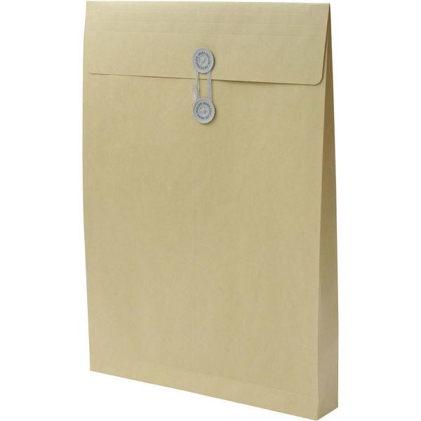 角1 クラフト保存袋 ハトメ紐付 マチ幅40mm BK11024 1箱(100枚) イムラ封筒(直送品)