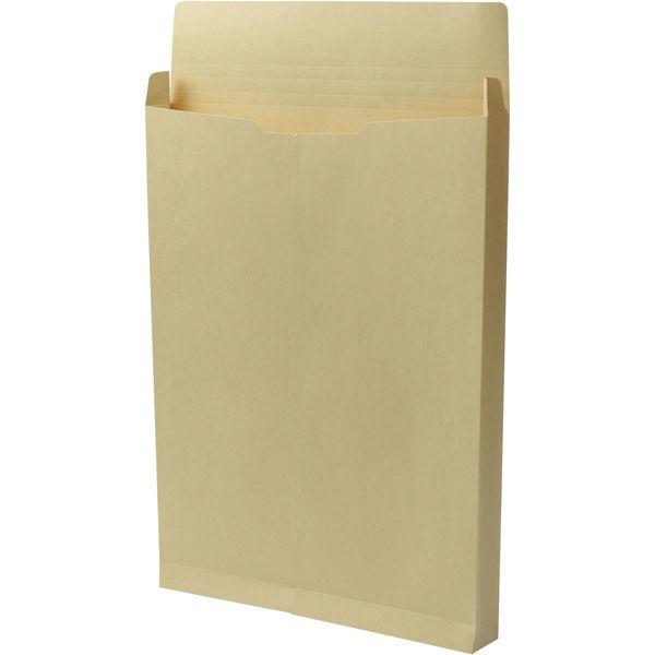 角2 クラフト保存袋 ハトメ紐なし マチ幅35mm BK2102N 1箱(100枚) イムラ封筒(直送品)