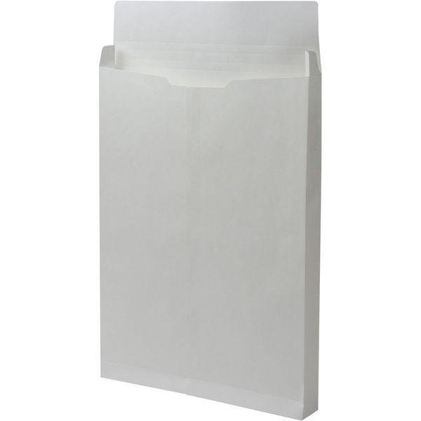 角2 ホワイト保存袋 ハトメ紐なし マチ幅35mm BK2122N 1箱(100枚) イムラ封筒(直送品)
