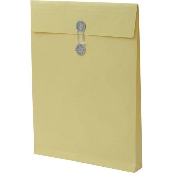 角2 カラークラフトクリーム保存袋 ハトメ紐付 BK2461 1箱(100枚) イムラ封筒(直送品)
