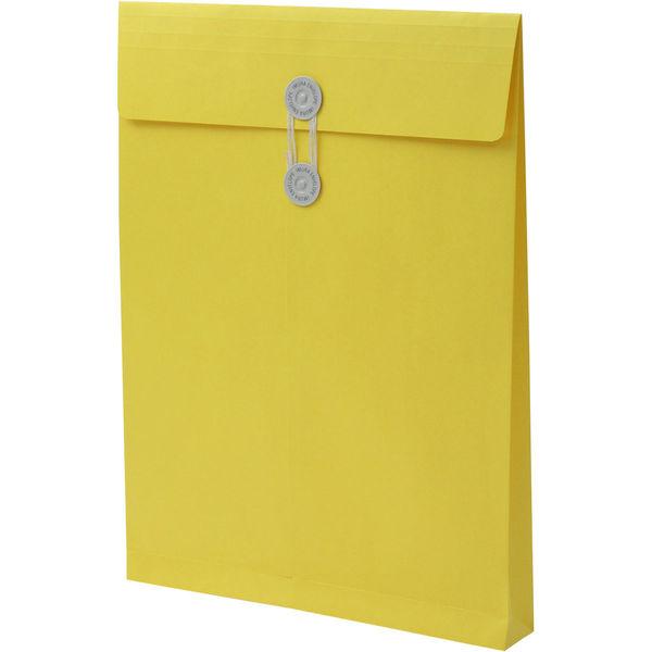 角2 カラークラフトイエロー保存袋 ハトメ紐付 BK2463 1箱(100枚) イムラ封筒(直送品)