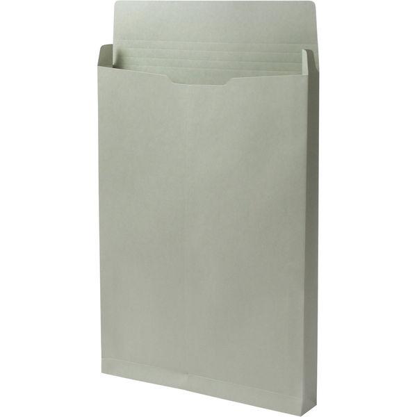 角2 カラークラフトグレー保存袋 ハトメ紐なし BK2465N 1箱(100枚) イムラ封筒(直送品)