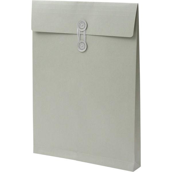 角2 カラークラフトグレー保存袋 ハトメ紐付 BK2465 1箱(100枚) イムラ封筒(直送品)