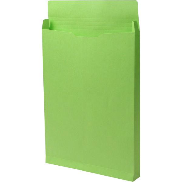 角2 カラークラフトグリーン保存袋 ハトメ紐なし BK2466N 1箱(100枚) イムラ封筒(直送品)