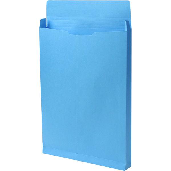 角2 カラークラフトブルー保存袋 ハトメ紐なし BK2467N 1箱(100枚) イムラ封筒(直送品)