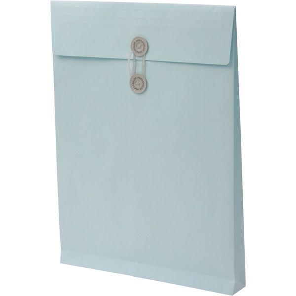 角2 ハーフトーンカラーブルー保存袋 ハトメ紐付 BK2567 1箱(100枚) イムラ封筒(直送品)