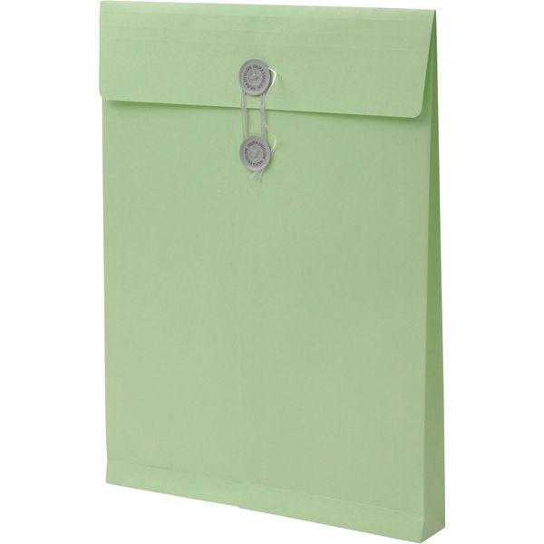 角2 カラークラフトウグイス保存袋 ハトメ紐付 BK2469 1箱(100枚) イムラ封筒(直送品)