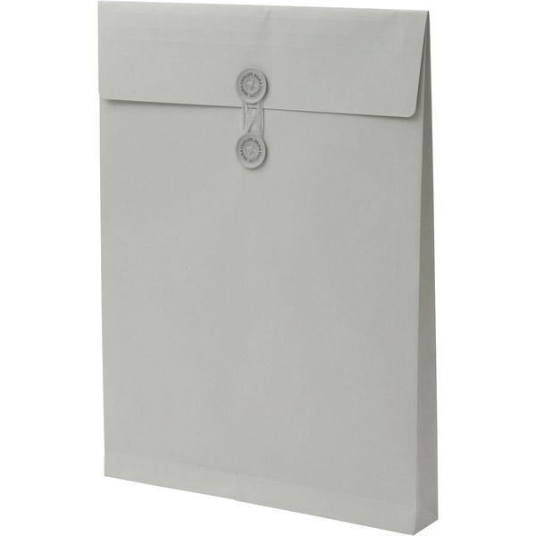 角2 ハーフトーンカラーグレー保存袋 ハトメ紐付 BK2565 1箱(100枚) イムラ封筒(直送品)