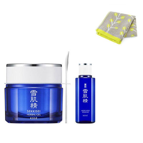 ハーバル ジェル&化粧水ミニ タオル付き