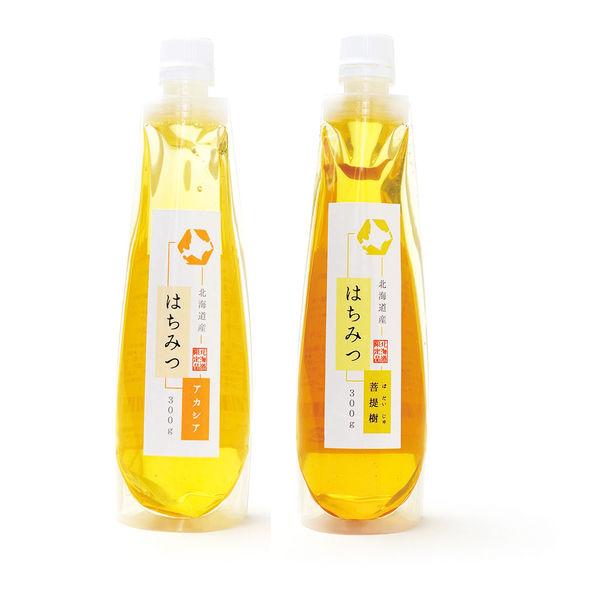 ほっとスペースこすもす らくらく蜂蜜(北海道産) アカシア、菩提樹 300g各1本セット akasiabodaiju 2本(直送品)